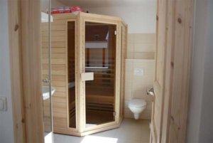 Ferienhaus Rügen Meerblick 6 Personen Glowe - Bad mit Sauna