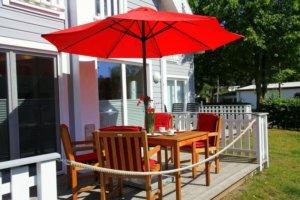 Ferienhaus Rügen mit Hund in Glowe für 2 Personen - Terrasse