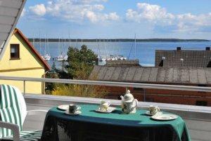 Ferienwohnung Rügen Breege für 6 Personen - Balkon mit herrlicher Aussicht