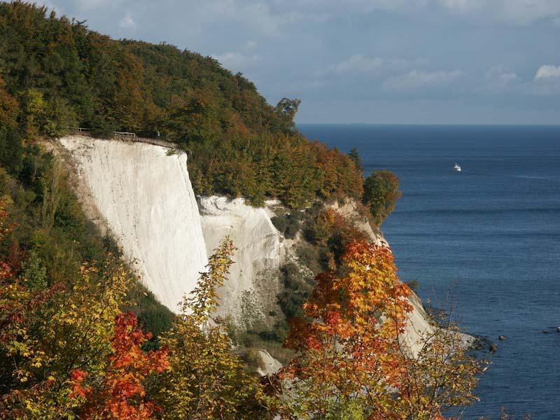 Kreidefelsen Rügen - im Herbst