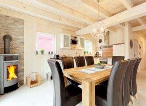 Rügen Ferienhaus am Strand für 8 Personen in Juliusruh - Esszimmer
