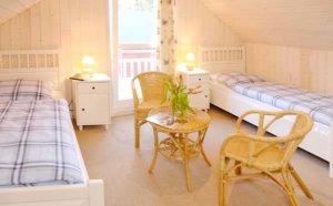 Rügen Ferienhaus am Strand für 4 Personen in Baabe - Schlafzimmer
