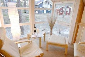 Rügen Ferienhaus am Strand für 4 Personen in Baabe - Sitzecke
